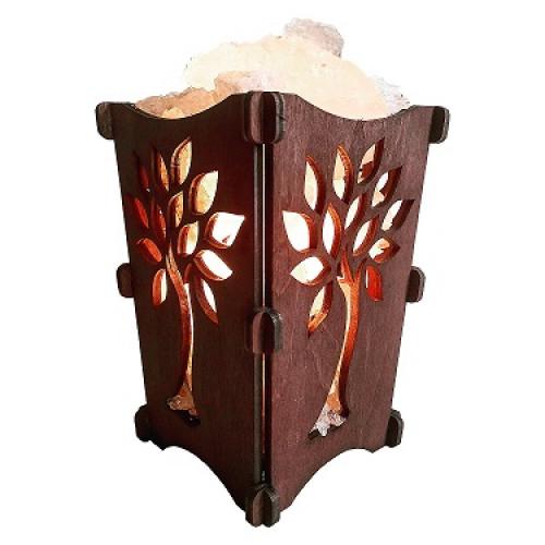Соляная лампа Корзина дерево,1 кг