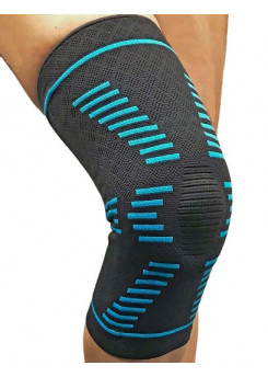 Бандаж профилактический  на  коленный сустав, с пружинными ребрами жесткости и силиконовой подушкой кольцом арт. RS-B34